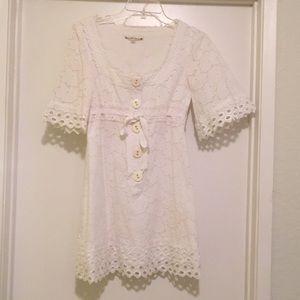 Nanette Lepore short white dress.